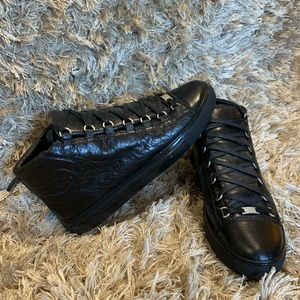 Balenciaga Arena High Leather Black Sz 44 US 11